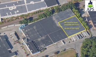 196 Industrial Road, Leominster MA Aerial View of Space Available for Lease