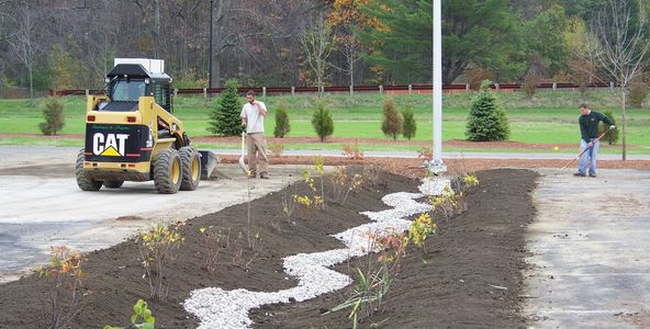 Rain Garden, Going Green,  Bioretention Practices, Water Preservation,  Watershed Coalition