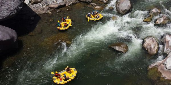 Whitewater rafting down the Cangrejal River near La Ceiba, Honduras