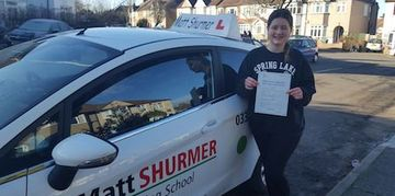 Learner Driver Training Sidcup Robyn W