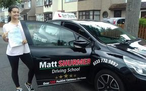 Booking Driving lessons Sidcup Emily W