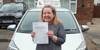 Automatic Driving Instructors Dartford | Kelly A