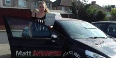 Car Driving Lessons Bromley Amy F