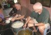Brothers Russel (left) and Steve (both in OKC) helping to serve the evening meal at HOPE. 2011