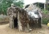 HMP's Samrajyamma's hut, the roof being eaten up by termites. 2013