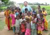 Brother Seyed (from Oregon, USA) with precious children in KB Palem in 2013.