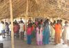 "HOPE children leading Sunday School in another tribal village called Krupa (""grace"") Colony in 2014."