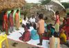 HOPE girls teaching an action song to KB Palem children in 2013.