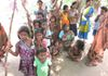 Needy villagers, mostly children, in KB Palem. 2014