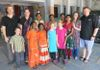 Brother Sam's family and David's family (visitors from USA) visited Sravanthi, Anusha and Aswini at Ponnur where they were studying in 2014.