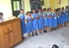 HOPE's Sudha Rani, Angel and other HOPE School children are singing a song during the Teacher's Day meeting in the HOPE School in 2014.