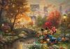 """Mickey & Minnie Sweetheart Central Park"" Thomas Kinkade Original"