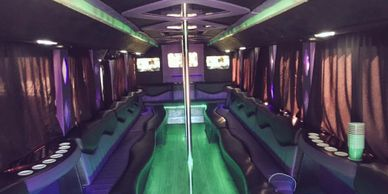 Our Big Momma Party Bus interior