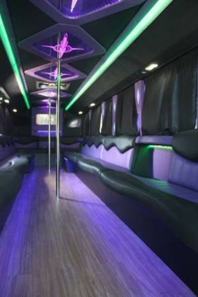 Our 43 passenger big momma party bus. It is your own mobile club on wheels.