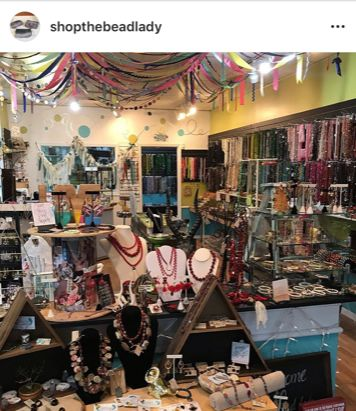 Inside of the bead lady store located 1 Union Street North, Concord, NC 28025