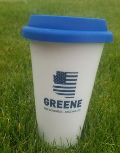 Greene for Congress Ceramic Travel Mug.