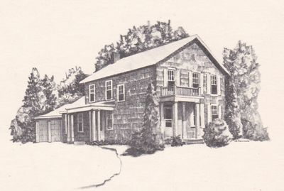 Livingston House drawing by J. E. Downing, member of the Reynoldsburg-Truro Historical Society
