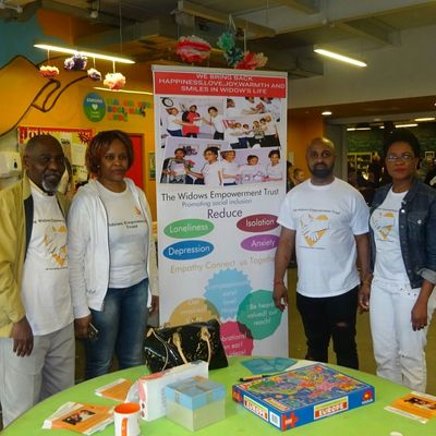 Members of Widows Empowerment Organisation at fundraising event