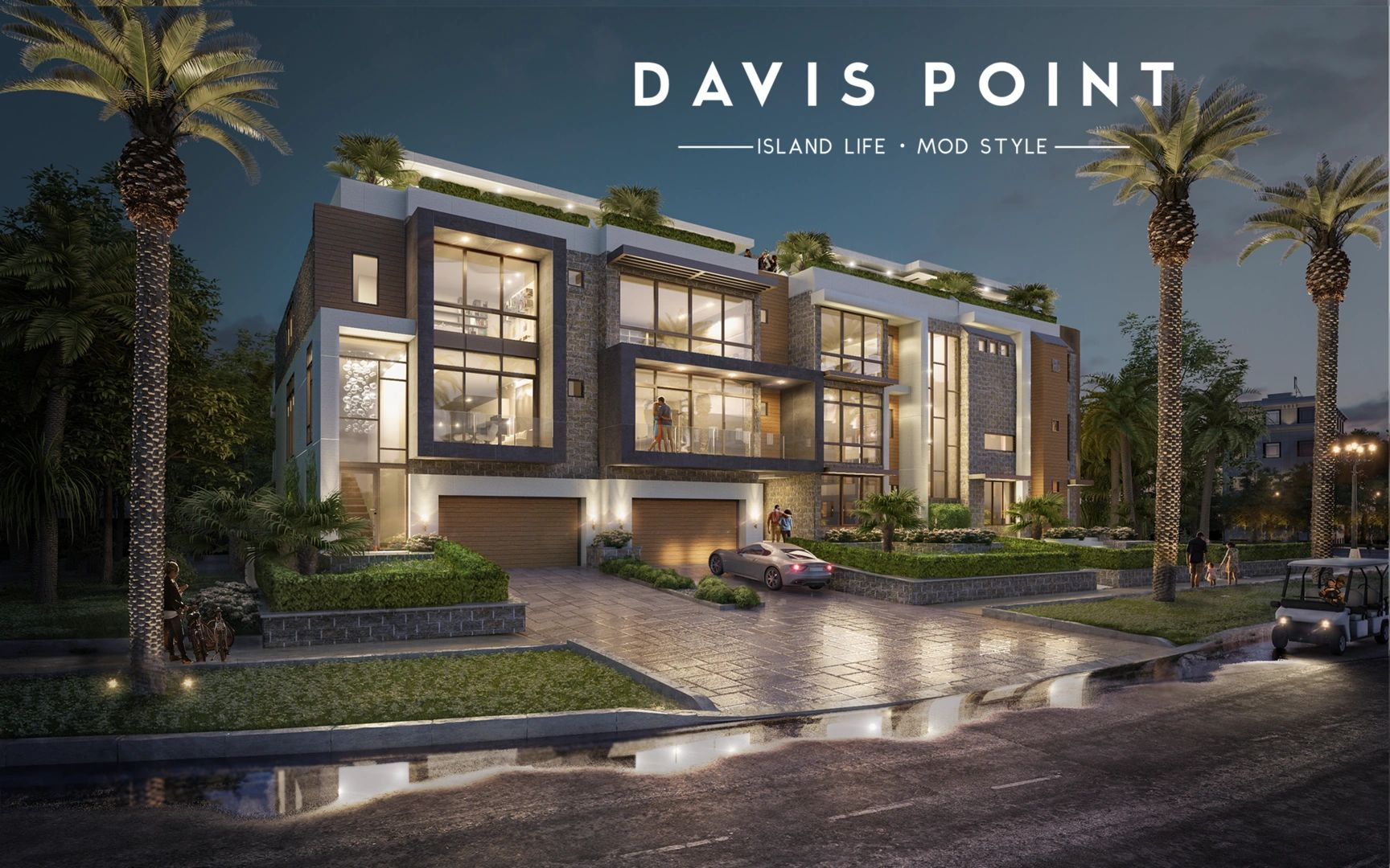 Modern Luxury Townhomes in Davis Islands.  Designed by Thomas Lamb