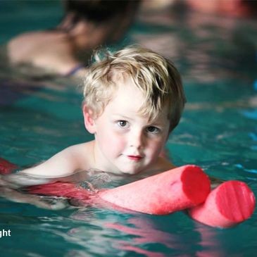 Toddler Swimming with Float