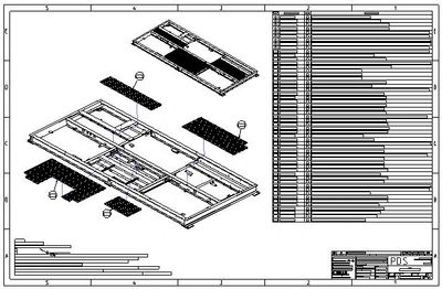 Manufacturing drawing of platform assembly