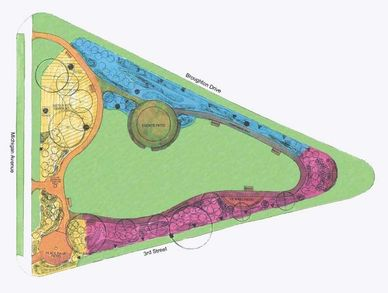 This is the landscape architect's plan for Sheboygan Peace Park.