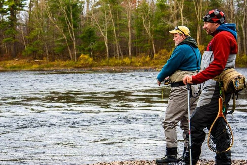 fly fishing Algonquin Park Ottawa Valley brook trout learn to fly fish drift boat bass lessons