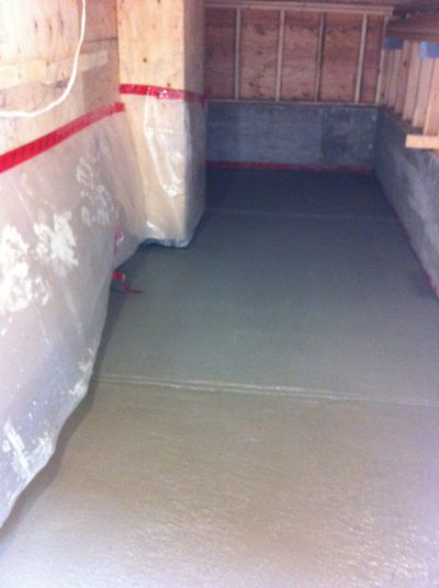 storage room concrete floor