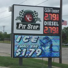 16mm LED Sign - Full Color LED Sign - Waterford Michigan - VC Pit Stop