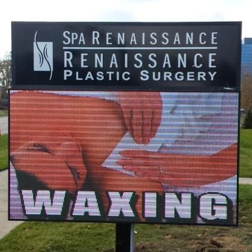 10mm LED Sign - Full Color LED Sign - Troy Michigan - Spa Renaissance