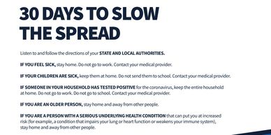 30 days to slow the spread, resources and updates, coronavirus.gov