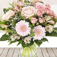 Pale pink elegant mother's day vase