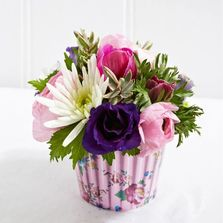 Cute cupcake flower arrangement