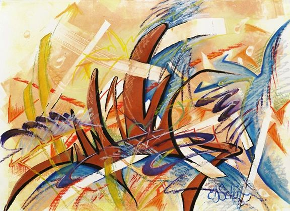 Orchestration Mixed Media on Paper 22 in x 28 in
