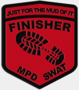 "2019 ""Just For The Mud Of It"" finisher patch"