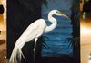 Great Egret, Live painting and auction.  Acrylic on Canvas for Christ Fellowship Academy, Palmetto Bay, Florida
