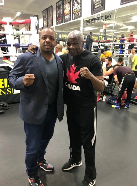 Rodney Ash is the founder of Hot Rod Sports. Sports Media.  Rodney Ash and Floyd Mayweather Sr.