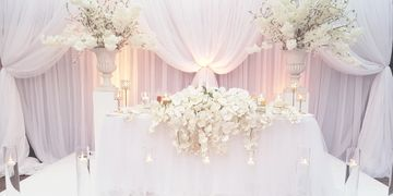 Full Room Draping, Back Drops, Head Table Draping, Stage Draping, Ceiling Draping