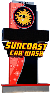 suncoast express wash sign turtle carwash fort myers FL florida new clean fast unlimited sun car