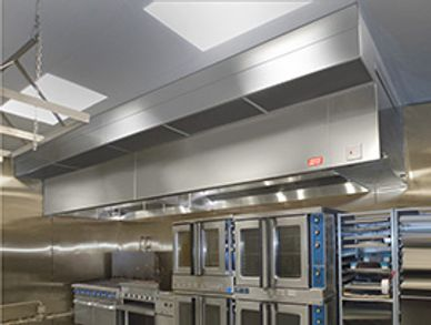 Ventilation hoods Electrical control panels Fire suppression systems Exhaust and Supply fans