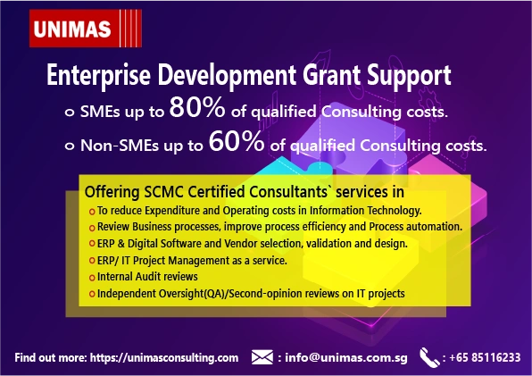 Government Grants Certified Management Consultant Consulting SCMC SME Enterprise Singapore