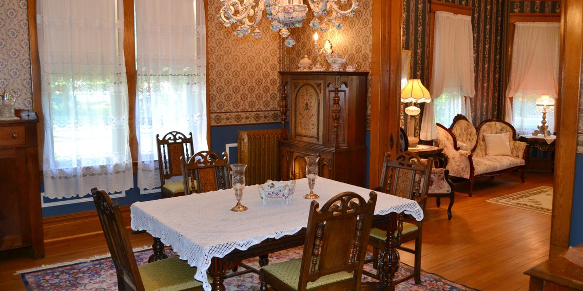 Enjoy breakfast in 1906 style at The Conner House BnB, Prairie du Rocher, IL 62277  618 284-8752 .