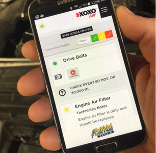 Digital inspections to a smart phone showing your car repairs with pictures and mechanic notes.