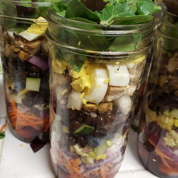 Mason jar salads are a life saver!
