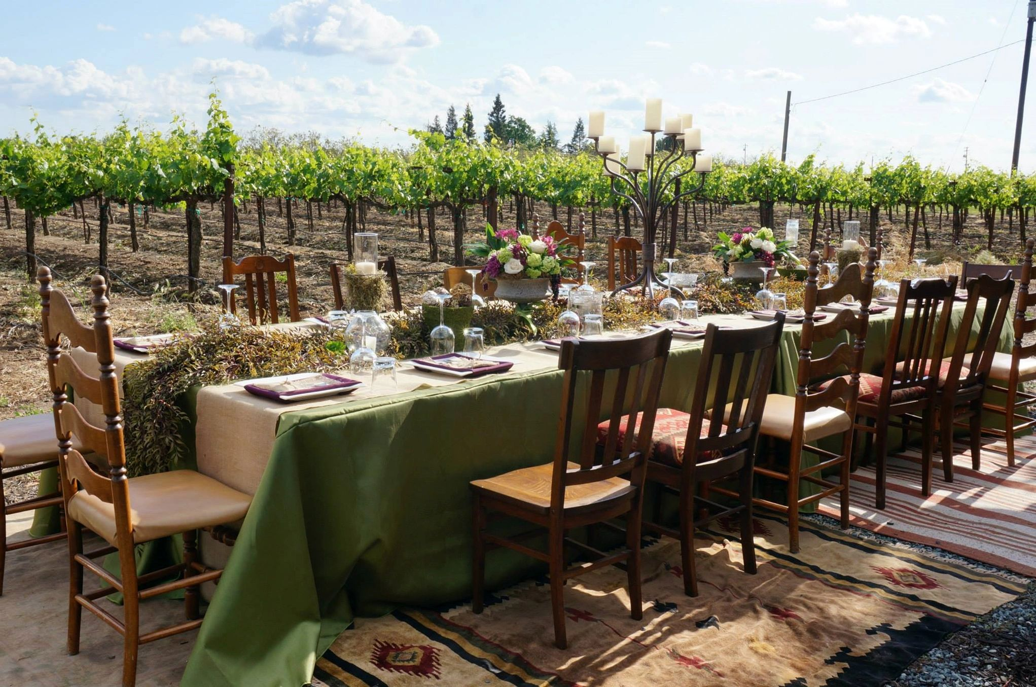 We love designing vineyard dinners...
