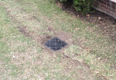 drainage hole cover in lawn