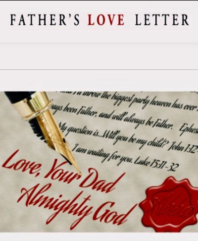 This image is on the Father's Love Letter website.  Click on the blue link below to browse the site.