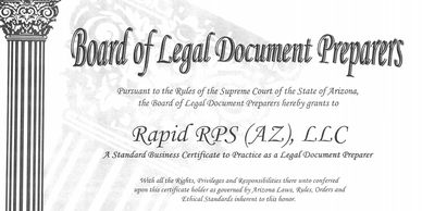 RapidRPS Arizona Legal Document Preparer