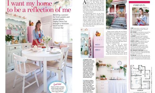 Your Home, July 2019, kitchen revamp, pastel interiors, retro look, period style, pink walls
