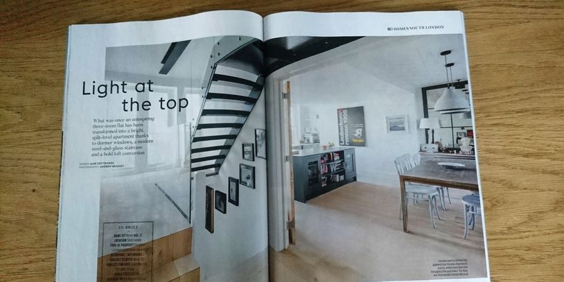 Grand Designs magazine, January 2019, flat renovation, loft conversion, kitchen makeover, bathroom